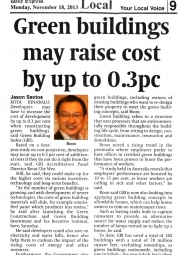 20131118-Sabah-Daily-Express-Green-Buildings-may-raise-cost-by-up-to-0.3pc