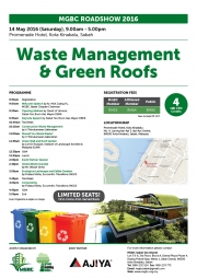 Roadshow 2016 – Waste Management & Green Roofs (Sabah)