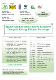 BSEEP Seminar Series: Active & Passive Design in Energy Efficient Buildings