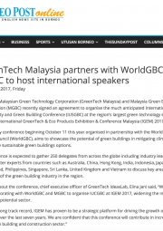 GreenTech Malaysia partners with WorldGBC, MGBC to host international speakers