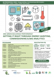 GBI Professional Series 2017 – Energy Auditing, Commissioning & BAS Analytics