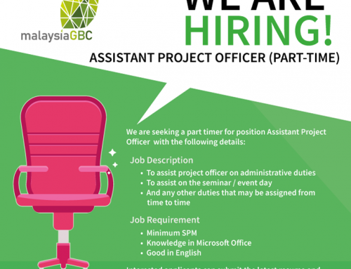 malaysiaGBC – WE ARE HIRING!