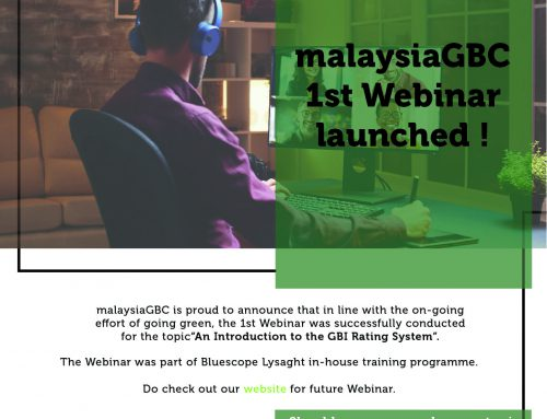 malaysiaGBC First Webinar Launched!