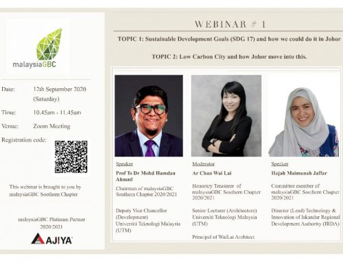 malaysiaGBC Southern Chapter-Webinar #1 – 12 Sep 2020