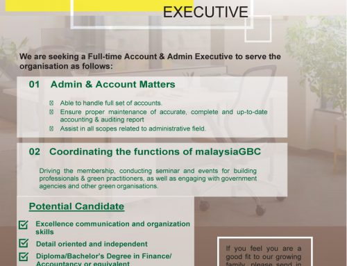 CAREER OPPORTUNITIES with malaysiaGBC