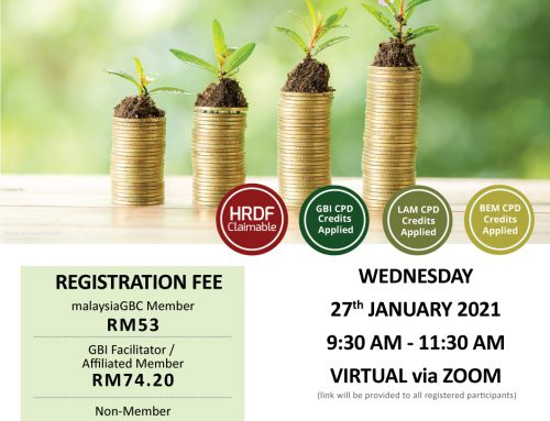 A New Shade of Green: Green Financing Webinar – 27 Jan 2021 – ZOOM