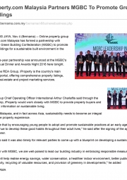 iProperty.com Malaysia Partners MGBC to Promote Green Buildings