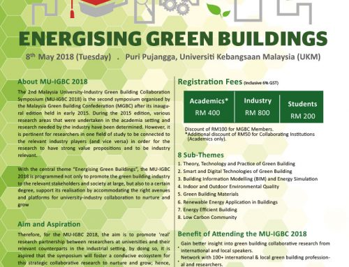 2nd Malaysia University-Industry Green Building Collaboration Symposium (MU-IGBC 2018)